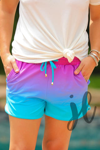 Ombre Essential Drawstring Shorts