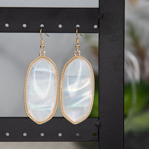 Marta White Shell Slab Earrings