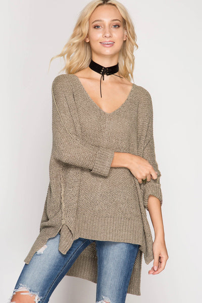 Mocha Slouchy Sweater