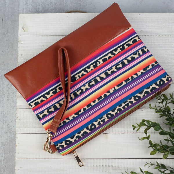 Serape Performance Poly Canvas Tote or Clutch