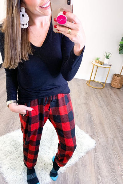 Buffalo Plaid Loungewear Joggers