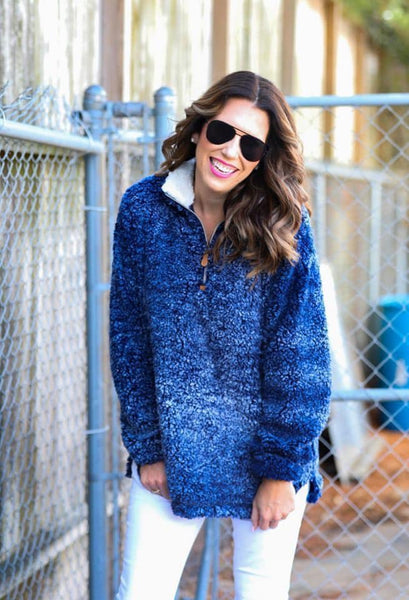 Brooke Heathered Sherpa Pullover