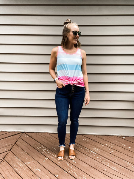 Saddie Striped Tank