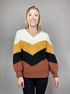 Rust Chevron Sweater