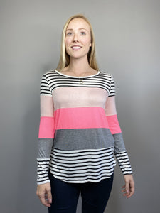 Neon Color-Block Long Sleeve