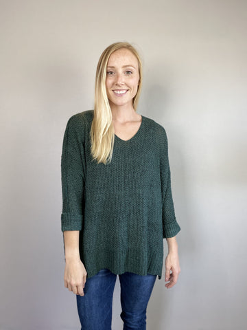 Sea Green Slouchy Sweater