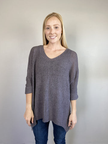 Charcoal Slouchy Sweater