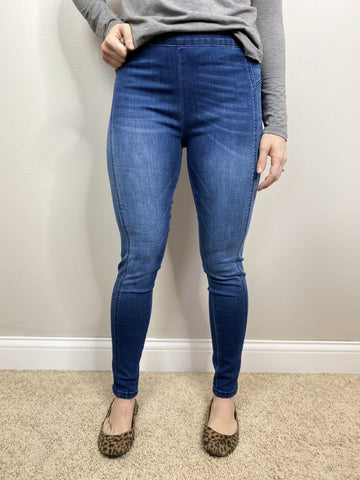 Kan Can Medium Wash Jeggings - Final Sale