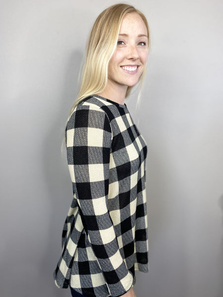 Buffalo Plaid Swing Top
