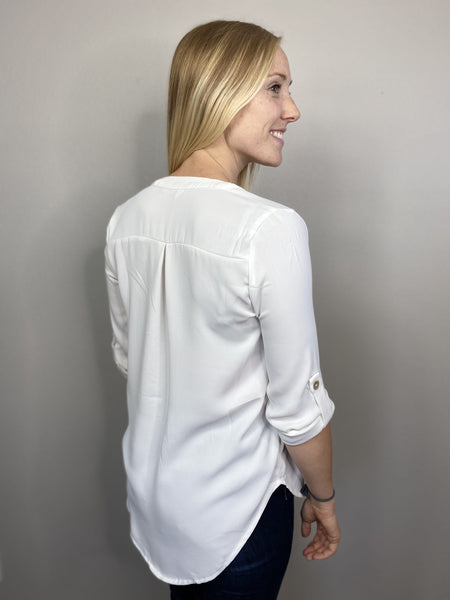 Henley Split Neck Top