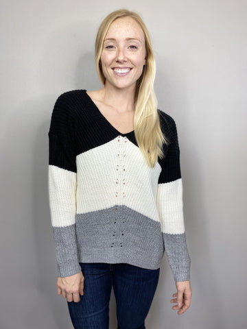 Color Block Slouchy Sweater