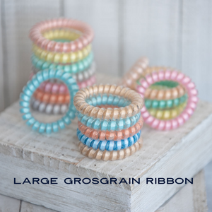 Grograin Ribbon Infused Large Lauren Lane Hair Coils