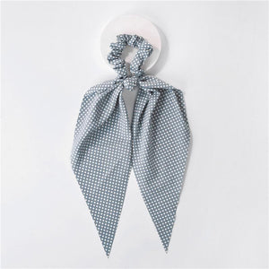 Blue and White Micro Dot Scrunchie Hair Scarf
