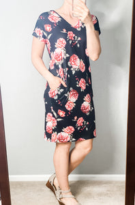 Brooklyn Floral T-Shirt Dress