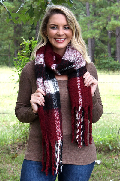 Burgundy Fairbanks Scarf