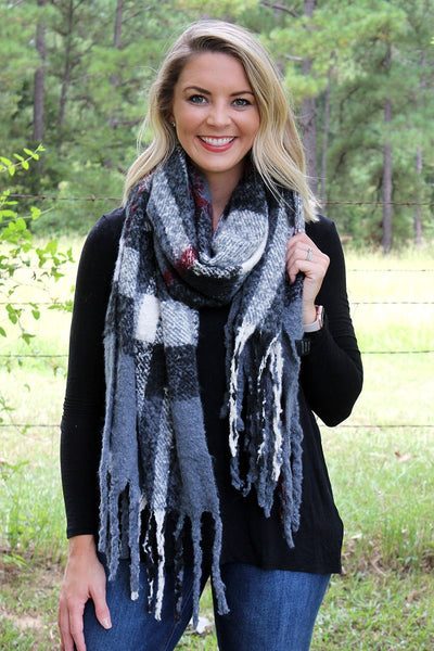 Gray Fairbanks Freeze Scarf