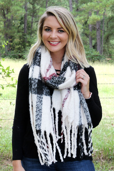 Ivory Fairbanks Freeze Scarf