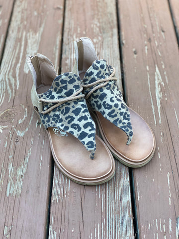 Canvas Leopard Sandals