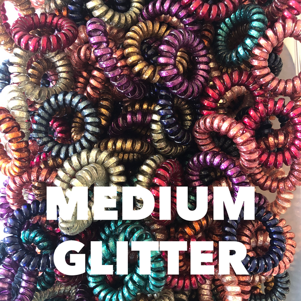 Medium Glitter Lauren Lane Hair Coils: Set of 5