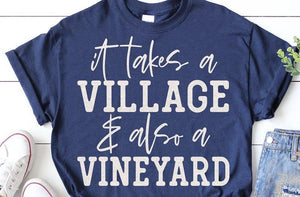 Village Vineyard tee