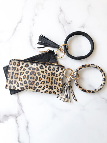 Bracelet Keychain and Wristlet with Tassel.