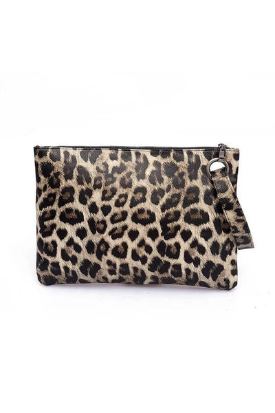 Leopard Print Wristlet (Dark or Light)