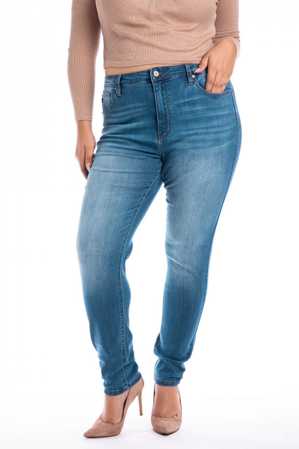 Light Wash Jeans Plus Size - KanCan