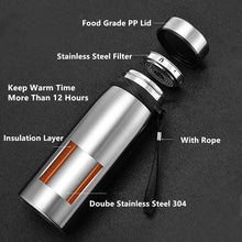 Load image into Gallery viewer, Portable Double Stainless Steel Vacuum Coffee Thermos