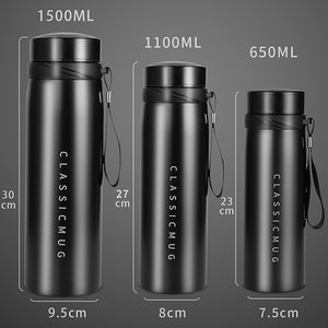 Portable Double Stainless Steel Vacuum Coffee Thermos