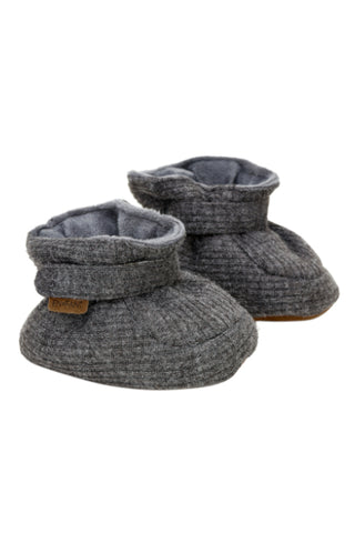 En Fant Baby Slippers Dark Grey