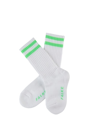 Retro Kids Socks Neon Green