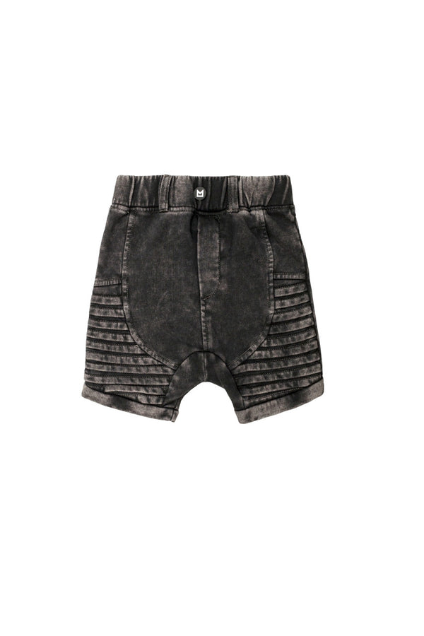 MINIKID Acid Black Mustat Shortsit