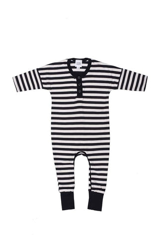 Striped Onesie Black'n'white
