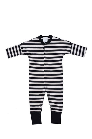 Striped Baby Onesie Black'n'white