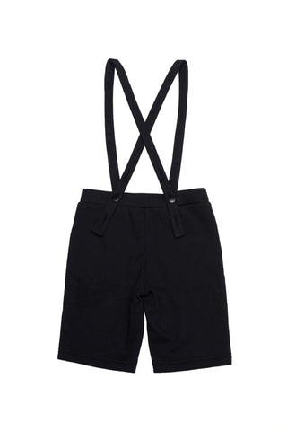 Suspender Shorts Black