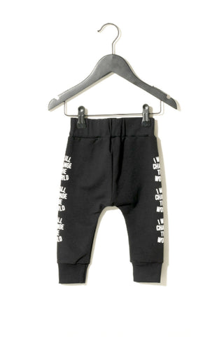 Black Worth Cotton Joggers