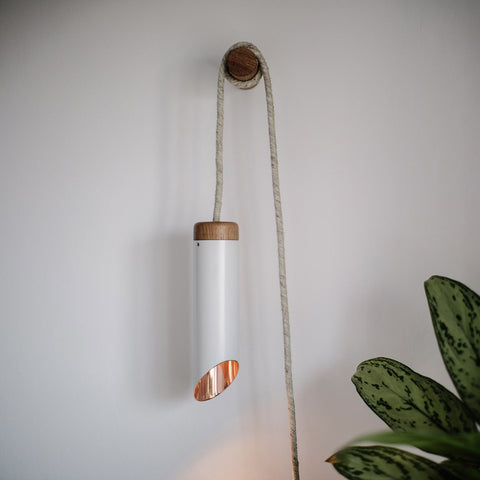 cool contemporary irish lamp, unusual copper lamp, wall hanging