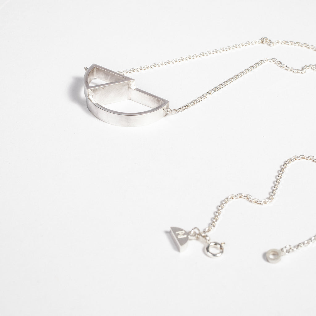 Silver geometric jewellery made in Ireland, gifts made in Ireland, slow fashion in ireland data-zoom=