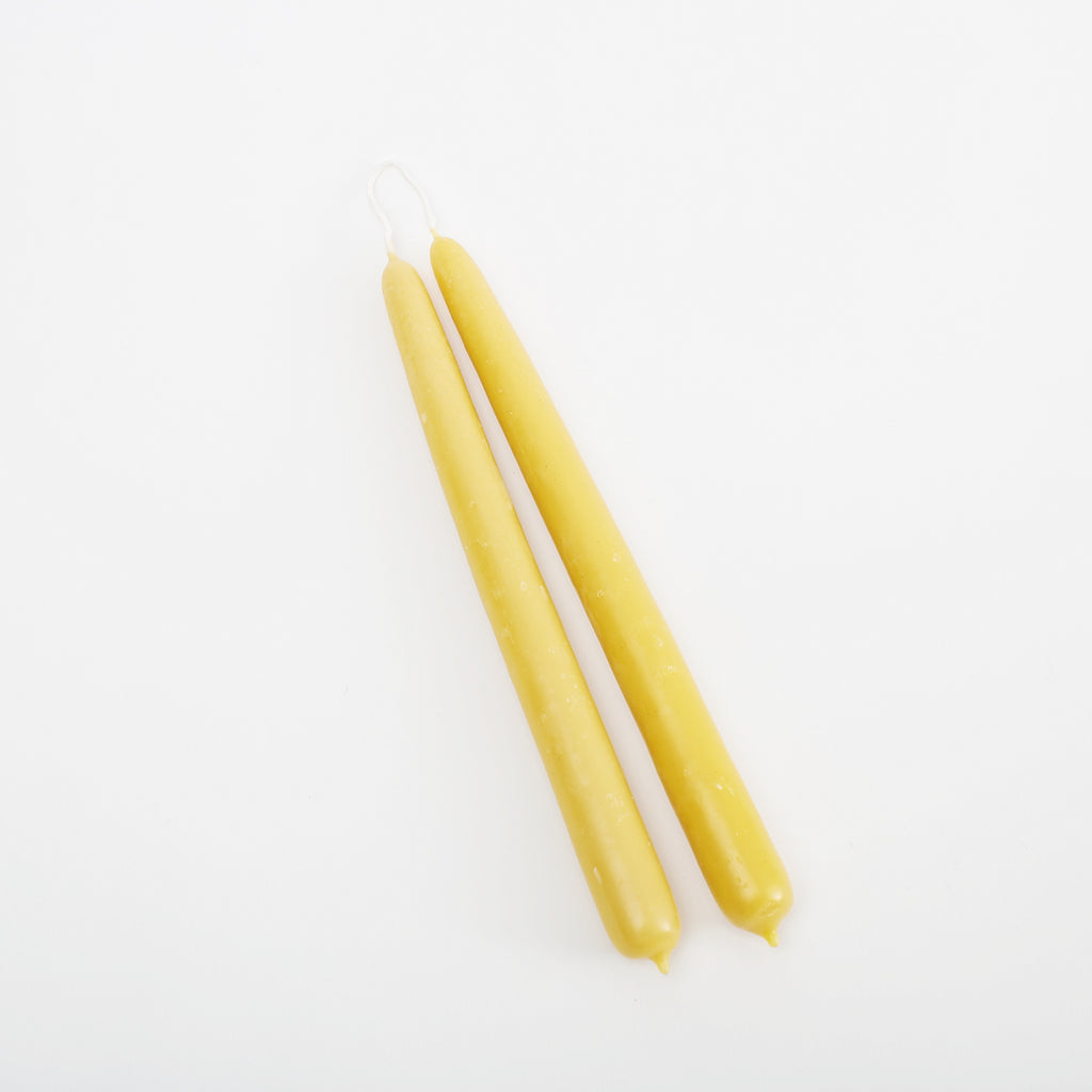 Beeswax Dinner Candles - Irish Design Shop data-zoom=