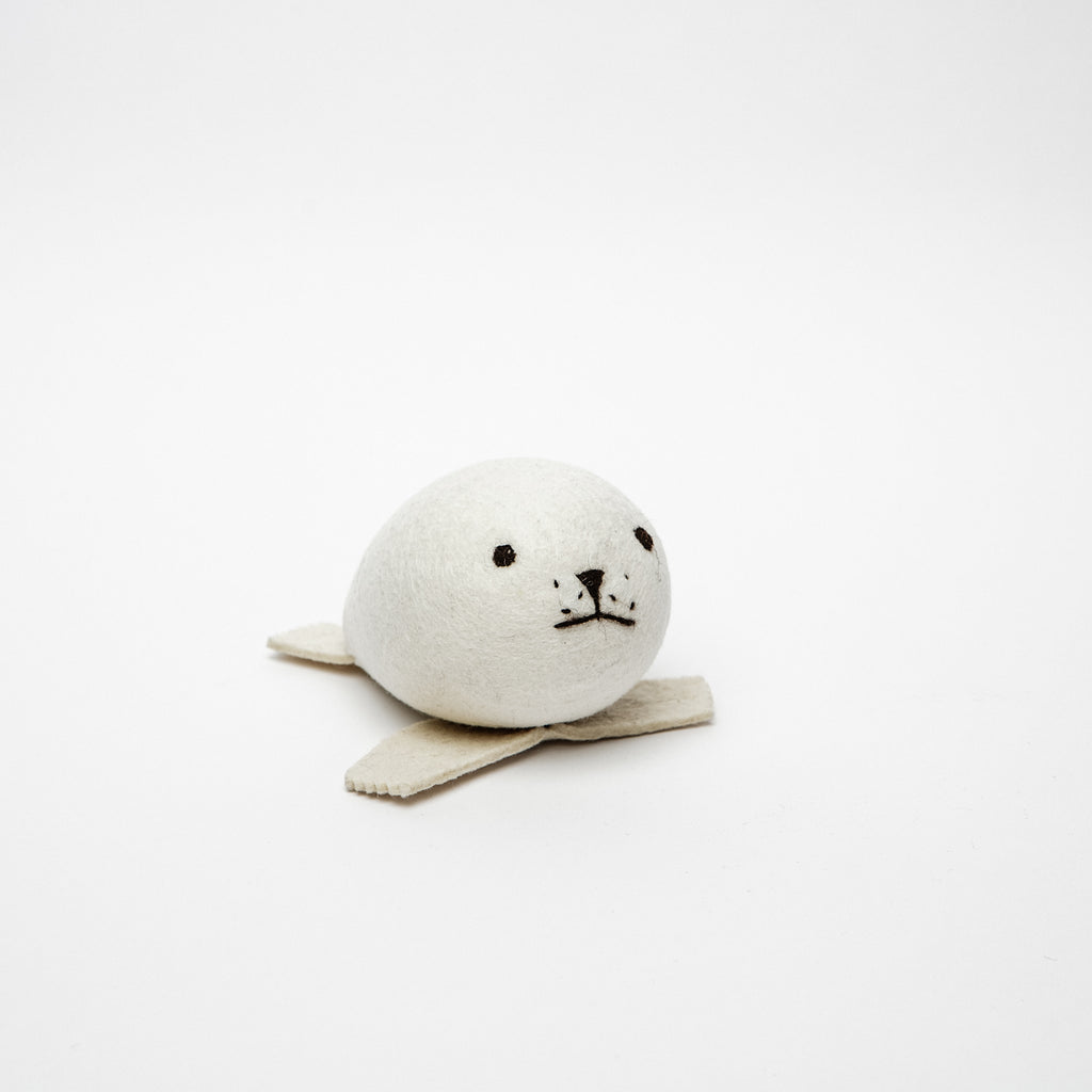 Toy baby seal, sea creatures made in Ireland, Irish soft toy, felt seal data-zoom=