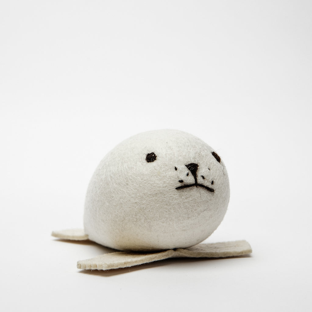 Irish keepsake for new baby, wool felt baby seal, made in Ireland, Irish gifts data-zoom=