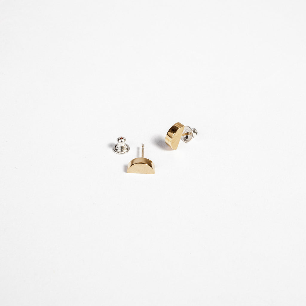 Minimal stud earring, Irish made jewellery, Contemporary Irish jewellery data-zoom=