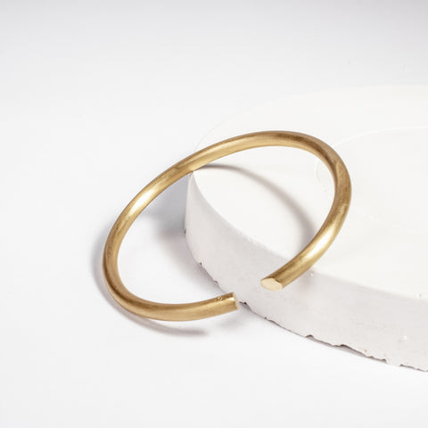 Daisy gold plated silver bangle, Daisy silver bangle, Contemporary Irish jewellery
