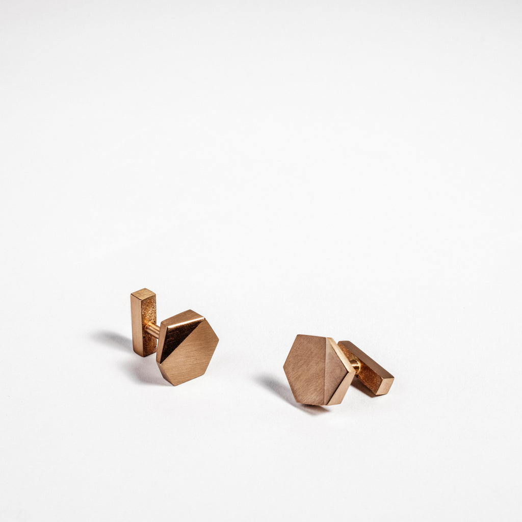 Men's jewellery, mens wedding gift ideas, geometric cufflinks  data-zoom=