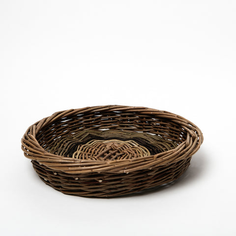 handwoven irish willow potato skib