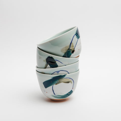 Abstract Porcelain Bowl