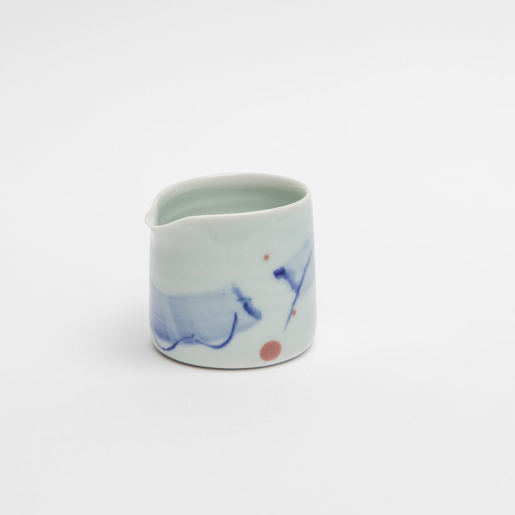 Adam Frew Ceramic Jug, Porcelain milk jug, Hand painted porcelain jug data-zoom=