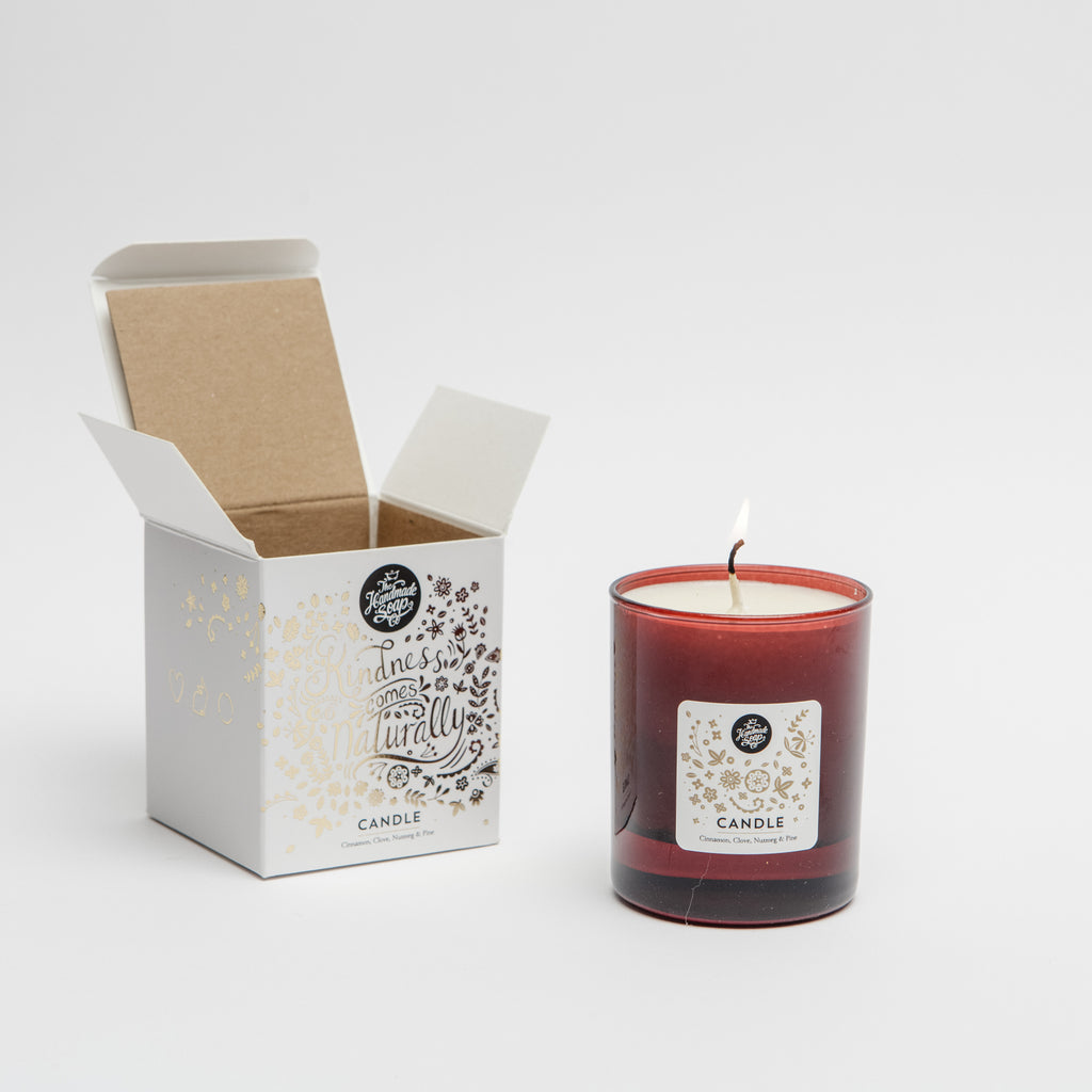 The handmade soap company Winter spice candle, Christmas candle, Christmas gift idea data-zoom=