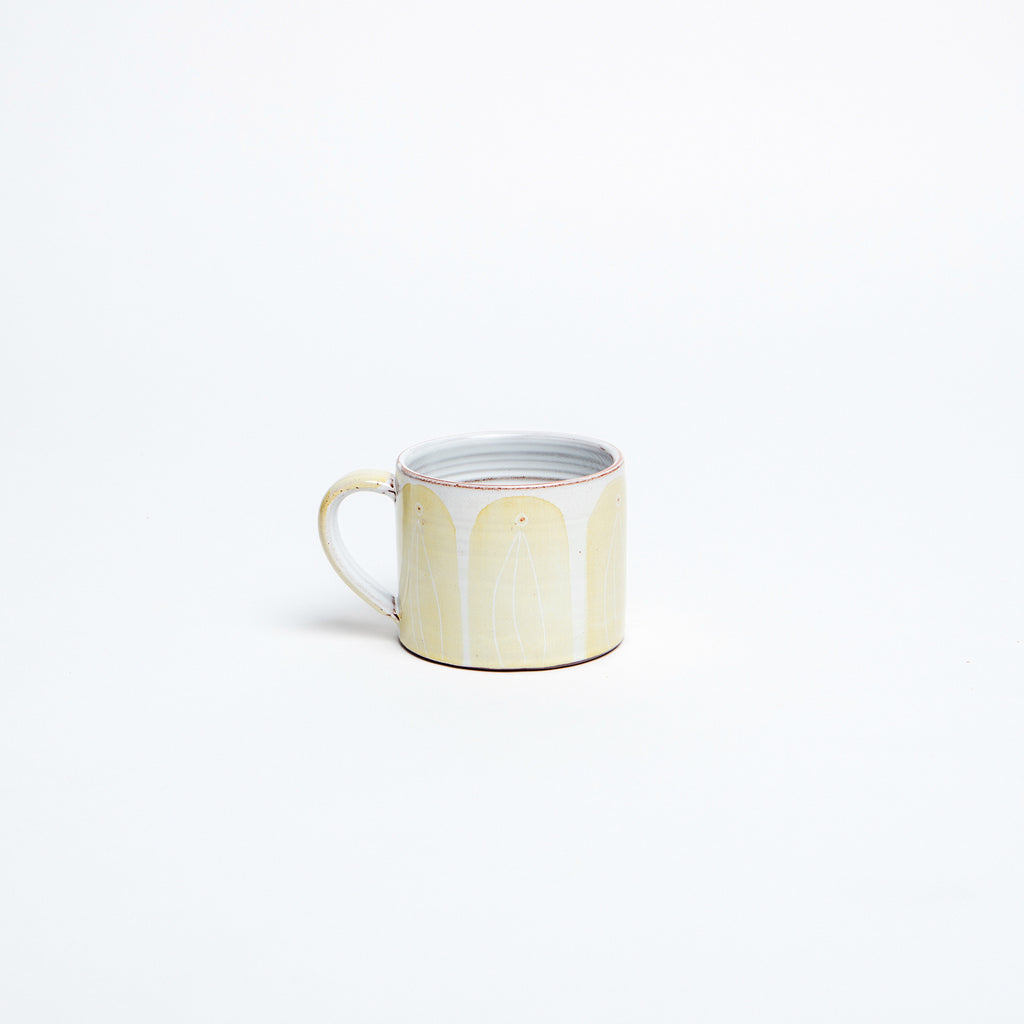 primrose yellow coffee cup, best irish token gifts for pottery and coffee lovers.  data-zoom=