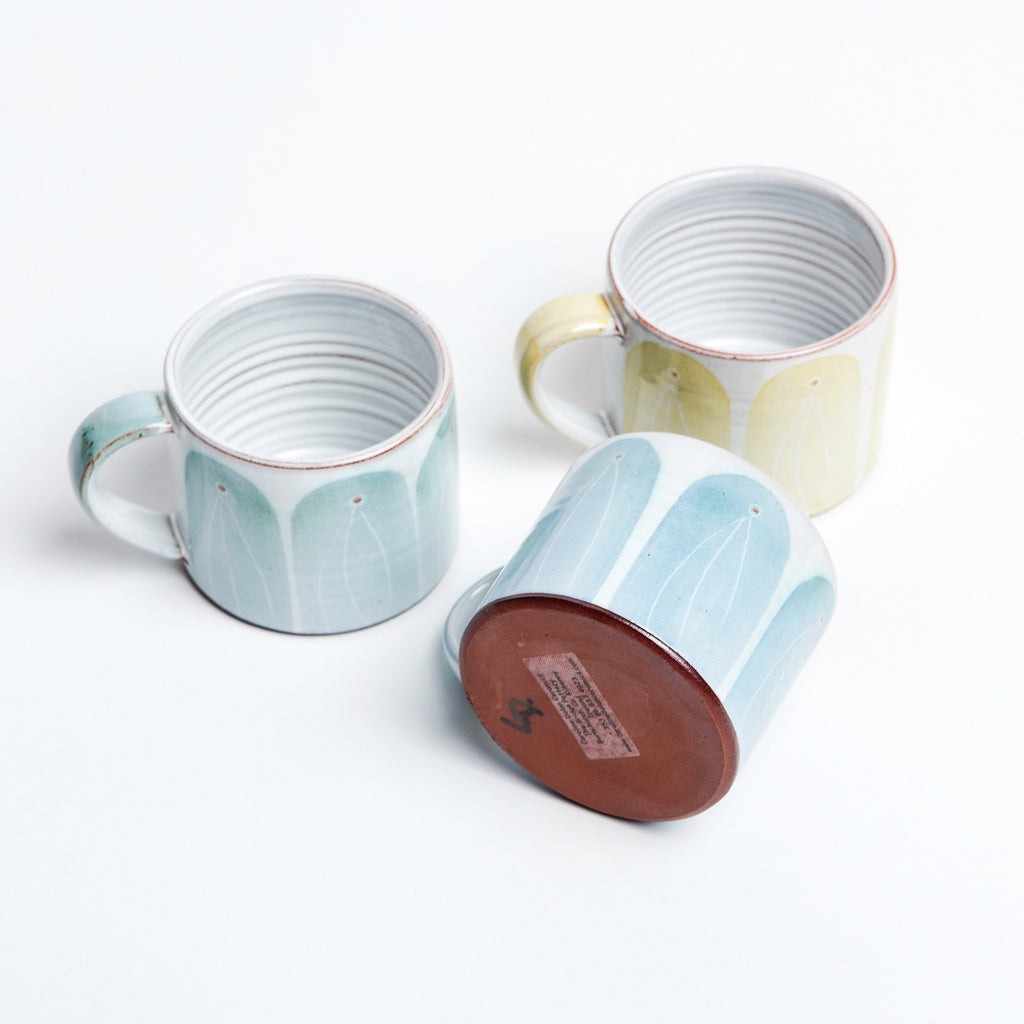 hand glazed irish pottery, kilkenny ceramics by Caroline Dolan, gorgeous handmade Irish mugs data-zoom=
